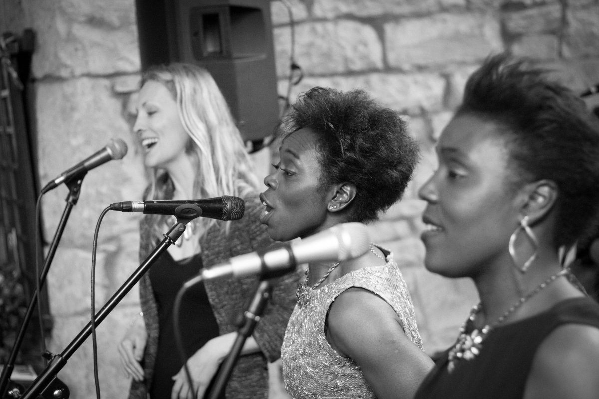 The Inspirational Wedding Singers performing at Wedding Ceremony, Cornwall 2015